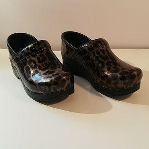 Dansko Shoe Clogs Leopard Print
